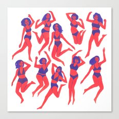 Underwear Dancing Canvas Print
