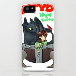 Hiccup and Toothless in a Helmet iPhone Case