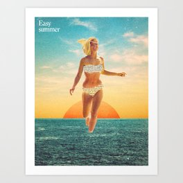 Easy summer Art Print