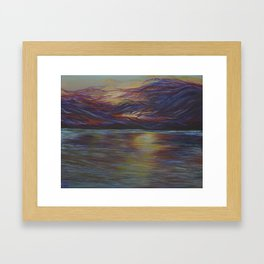 look up Framed Art Print