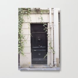 The Black Door at No. 9 Metal Print