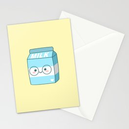Kawaii Milk Stationery Cards