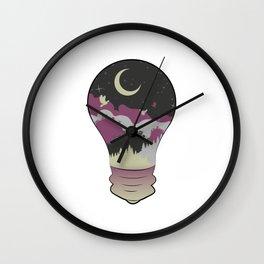 City in a Lightbulb Wall Clock