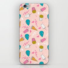Alien outer space cute aliens french fries rad sodas pattern print pink iPhone & iPod Skin