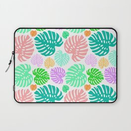 Simply Monstera in Mod Multi + White Laptop Sleeve