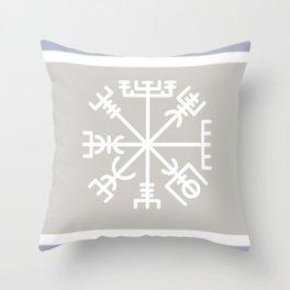 The Vegvísir - Icelandic Magical Stave Throw Pillow