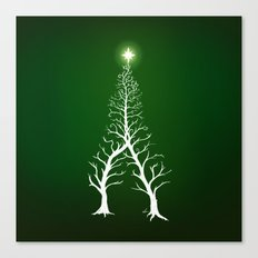 Christmas Tree Intertwined - painting Canvas Print