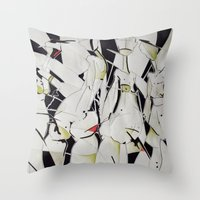 women Throw Pillows featuring women by KA Art