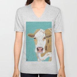 A Cow Named Cross Unisex V-Neck