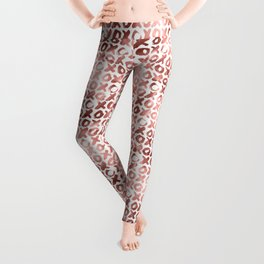 XOXO Kiss Me Rose Gold Pattern Leggings