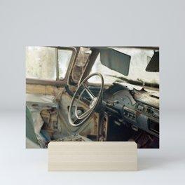Tired Car. Mini Art Print