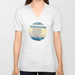 The Lord is Mightier than the Seas Unisex V-Neck