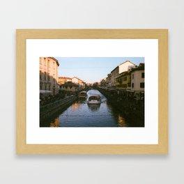 Gold To Blue Framed Art Print