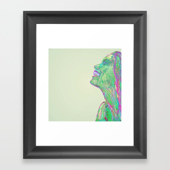 Laughing With Framed Art Print