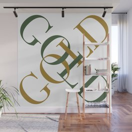 Green Gold Wall Mural