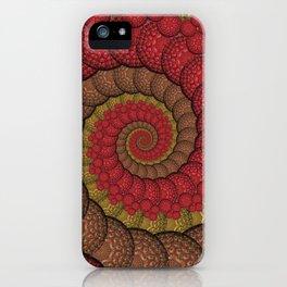 Red and Orange Hippie Fractal Pattern iPhone Case