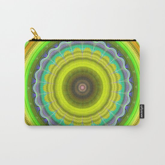 Abstract Lemon summer mandala with tribal patterns Carry-All Pouch