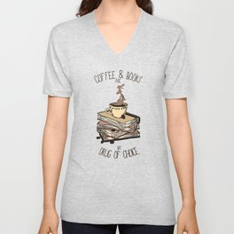 Coffee And Books Unisex V-Neck