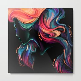 Deep Sea Neon Metal Print