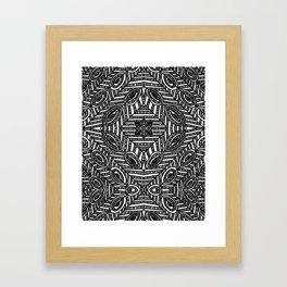 Tile Design Achromatic Framed Art Print
