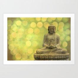 Buddha light yellow Art Print