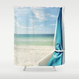 Beach Umbrella Shower Curtain