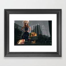 Food fantasy collage series #1 Framed Art Print