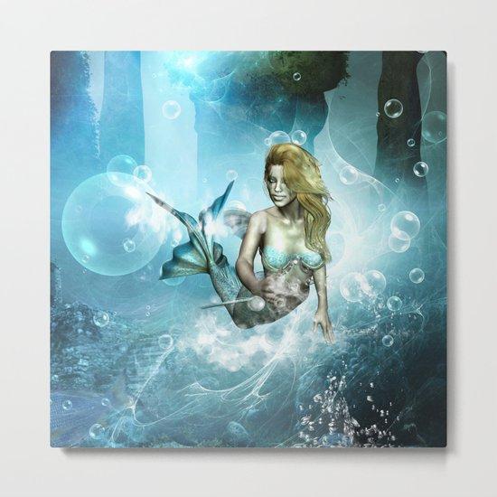 Beautiful mermaid Metal Print