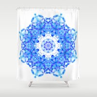snowflake Shower Curtains featuring Snowflake by KAndYSTaR