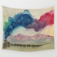 journey Wall Tapestries featuring Journey by Jen Hallbrown