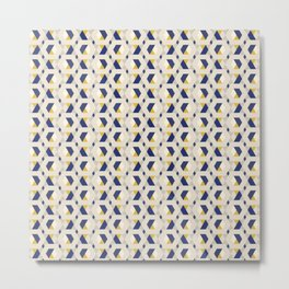 Geometric seamless hexagonal pattern Metal Print