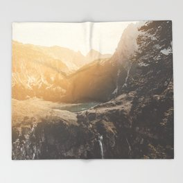 Is this real landscape photography Throw Blanket
