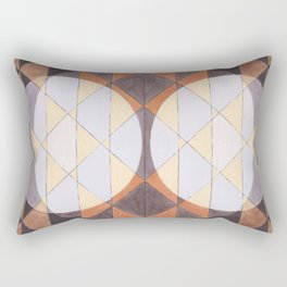 Triangles and Circles Pattern no.24 Rectangular Pillow