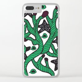 Alga with sea stars and coral Clear iPhone Case
