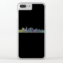 Dark Beverly Hills Skyline Clear iPhone Case
