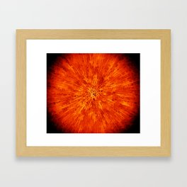 exploding star Framed Art Print