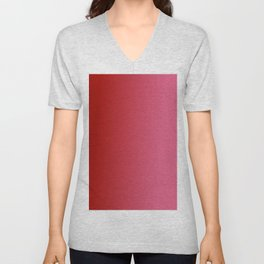Ombre in Red Pink Unisex V-Neck