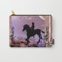 The unicorn with fairy Carry-All Pouch