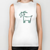 goat Biker Tanks featuring Goat by ANNA MAKAĆ -  folk designs