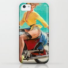 Gil Elvgren - Motorcycle Pinup Girl iPhone 5c Slim Case