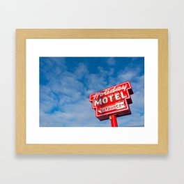 The Neon Guides Us Home Framed Art Print