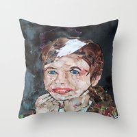 rogue Throw Pillows featuring ROGUE by JANUARY FROST