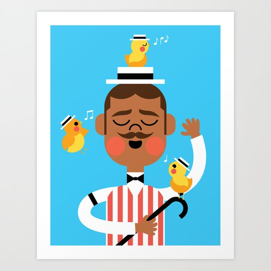 Barbershop Quartet Art Print