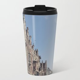 Winding Streets of Ghent, Belgium Metal Travel Mug
