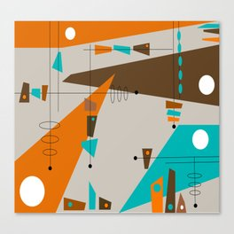 Mid-Century Rectangles Abstract Canvas Print
