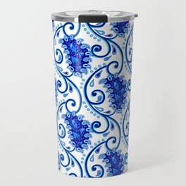 Paisley Porcelain blue and white Travel Mug