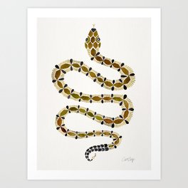 Olive Serpent Art Print