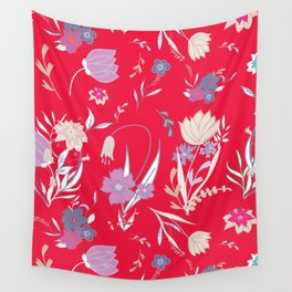 Petite Summe Red Wall Tapestry