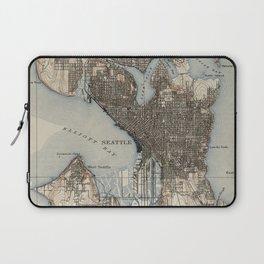 Vintage Map of Seattle Washington (1908) Laptop Sleeve