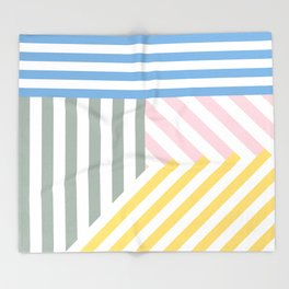 Summer stripes Throw Blanket